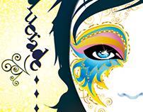 Masquerade Summer Ball Flyer Design