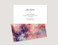 Dye Paint Style Business Card Template