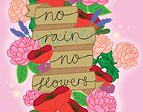 No rain, no flowers - October 2017