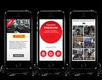 Versión Mobile  de sitio web