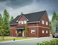 Wooden house in Germany №001