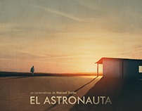 """El Astronauta"". Short film poster design."