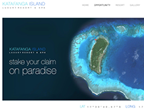 Pre-build website for luxury island development