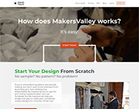 MakersValley Website v2 - Mock-up