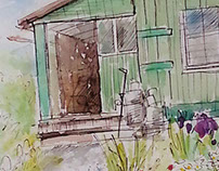 Sketch. In the country