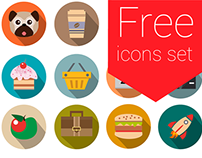 Free icons set for Landing Page