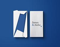 James and Aisha | Wedding Invitation