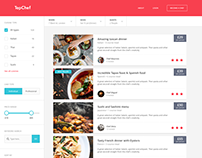 Food website listing page