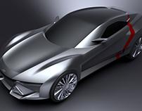 Audi quattro S1 modeling process CAU degree show 2016