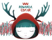 Diseño de logo + afiches . Rowanda