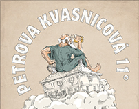 Graphic identity of Petrova Kvasnicová 11° beer