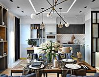 Тридцать оттенков серого в интерьере квартиры