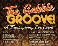 The Gobble Groove Event Poster