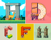 Pixel Letters - 36 Days Of Type