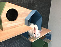 NeconoMa, the new feline house for Japanese homes