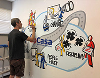 Mural painting at the offices of UpCasa Tech Services