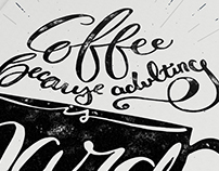 Coffee Inspired Hand-lettering Posters
