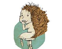 Children's book illustration: Ildi Vibók: Sibi