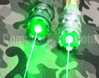 El puntero láser verde para el posicionamiento