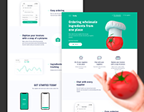 Landing page for Foody