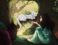 The Little White Cat - Visual Development