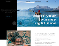 The main website page UI design Travel around the world