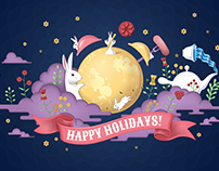 Packaging illustration - Samlip Holiday gift sets