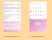 Calendar App Ui/Ux Concept