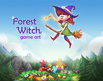 """Forest Witch"" game art"