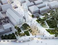 City Square proposition by NFO, Novigrad, Croatia