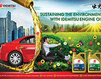 Idemitsu poster for sustainable engine oil