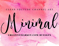 5 Minimal Youtube Channel Art Banners PSD Templates