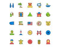 Malaysia Icons Set