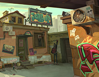 Street art town
