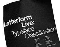 Letterform Live Poster