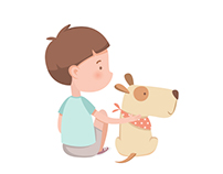 Flat vector kids illustrations