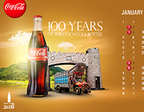 calendar design for coca cola