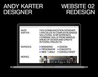 Personal website. Self branding. Redesign