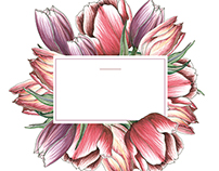 Flower prints for SISTER's boxes design