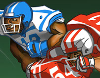 Touchdown! Pile Up! Game Art for 1st & Goal