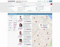 Search form for medical booking portal