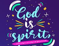 God is Spirit, John 4:24
