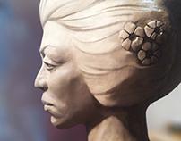 Sculptural portraits of women