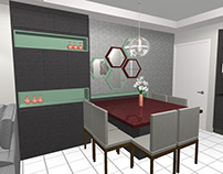 Cozinha/Sala - Sabrina Móveis Sob Medida