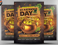 St. Patrick's Day Gold Party Flyer Template