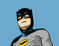 Classic Batman's TV Series Sketch