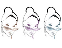Model in glasses fashion illustration
