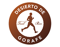 Logo redesign of Trail Run Desierto de Gorafe