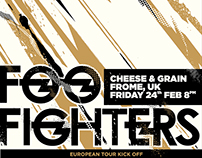 Foo Fighters Tribute Gig Poster