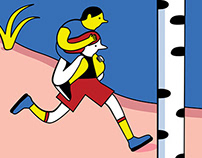 Illustration for a running event